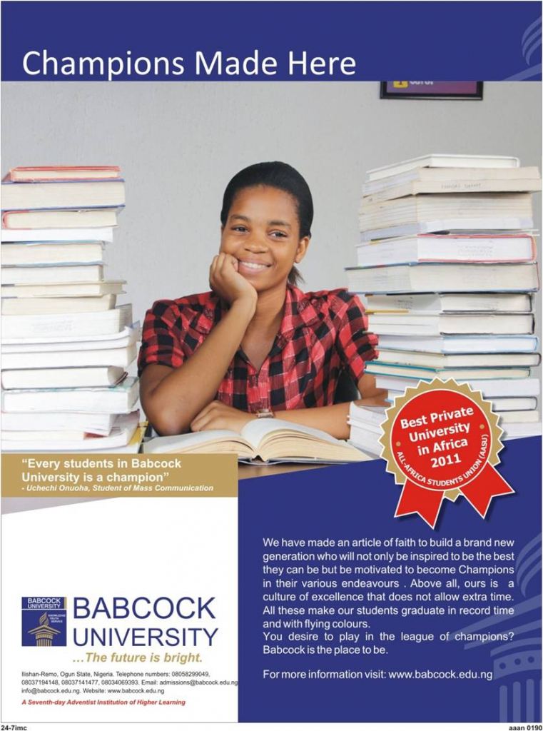 Press Ad for Babcock University
